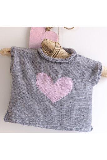 Modello tricot My Love gilet bimba con cuore