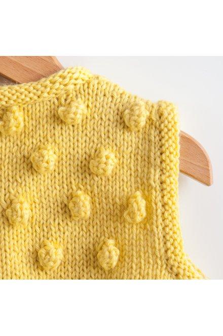 Modello tricot Popcorn gilet con noccioline