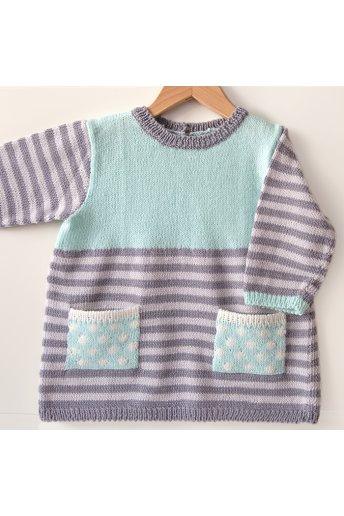 Modello tricot Sophie abitino a righe