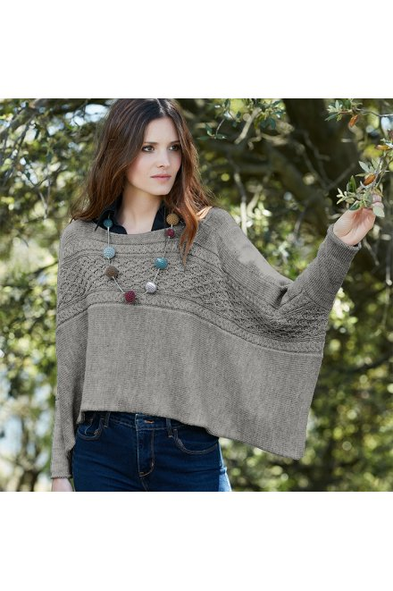 Modèle tricot poncho dundee