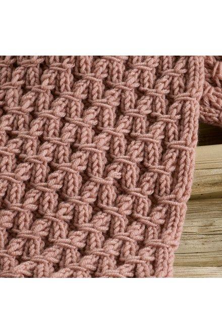 Modello tricot Eda sciarpa rosa