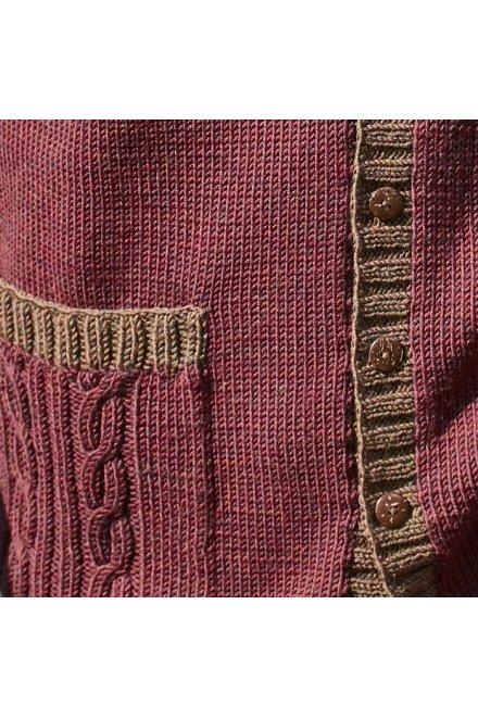 Modèle tricot cardigan edimbourg
