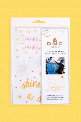 Magic Paper Mouliné  Etoile + messages