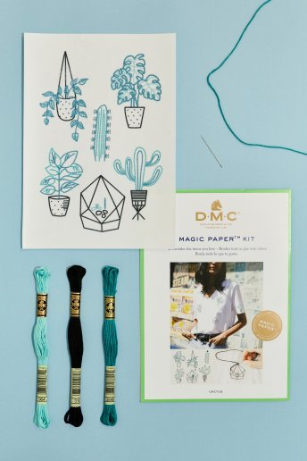 Cactus Collection Embroidery Magic Paper Kit
