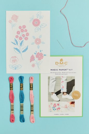 Flower Collection Embroidery Magic Paper Kit