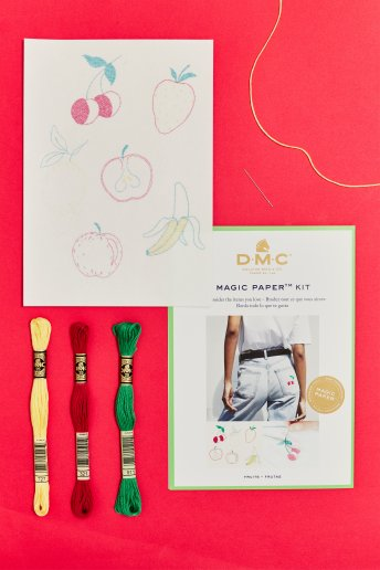 Fruit Collection Embroidery Magic Paper Kit