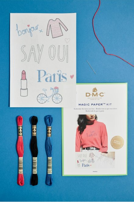 French Collection Embroidery Magic Paper Kit