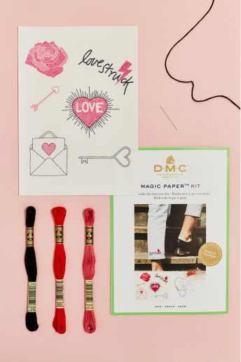 Love Collection Embroidery Magic Paper Kit