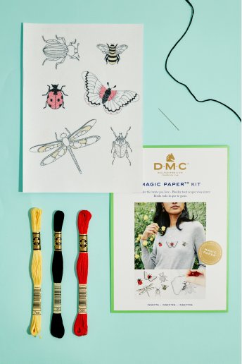 Insect Collection Embroidery Magic Paper Kit