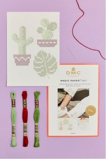 Cactus Collection Cross Stitch Magic Paper Kit