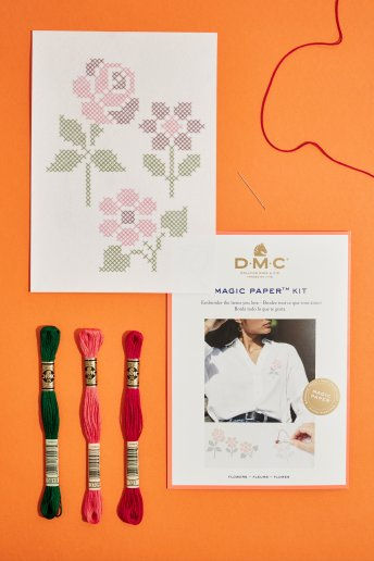 Flower Collection Cross Stitch Magic Paper Kit