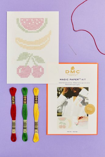 Magic Paper Kit - Frutta punto croce