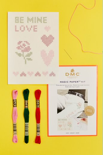 Magic Paper Kit - Love punto croce