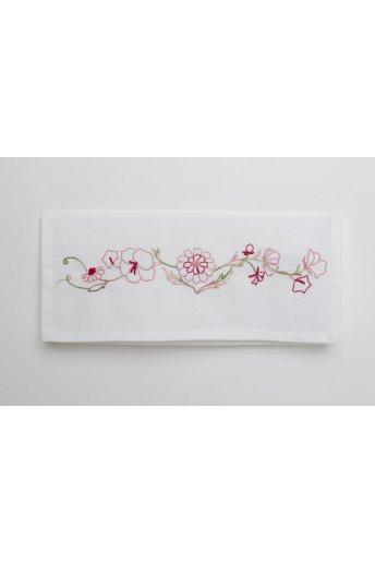 Support  pochette Fleurs broderie traditionnelle KITK157/V