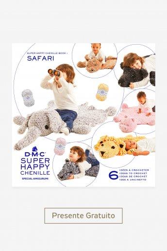kit Safari com o fio Super Happy Chenille urso