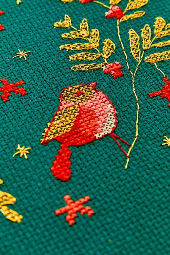 14 threads Christmas Aida embroidery fabric - 5.5 pts / cm