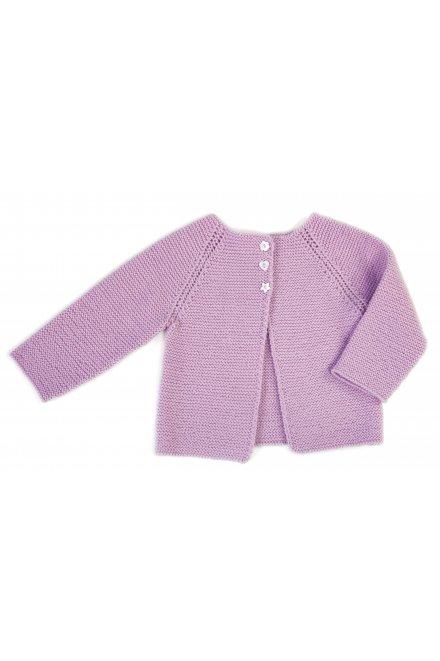 Modèle laine baby cardigan