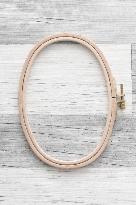 刺しゅう枠 横オーバル(楕円型)