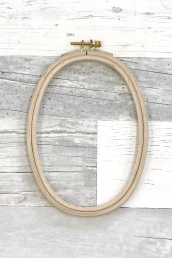 刺しゅう枠 縦オーバル(楕円型)
