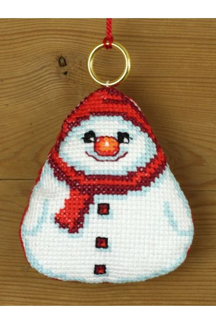 「Snowman(やさしい雪だるま)」PERMIN CROSS STITCH KITS ペルミン クロスステッチキット