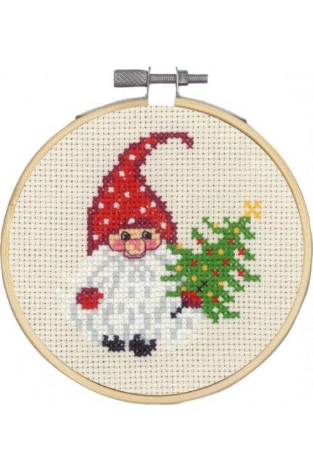 「Elf & Tree(サンタとツリー)」Permin Cross Stitch Kits ペルミン クロスステッチキット