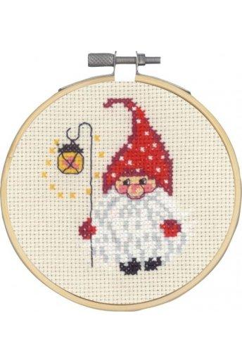 「Elf & Light(サンタとライト)」Permin Cross Stitch Kits ペルミン クロスステッチキット