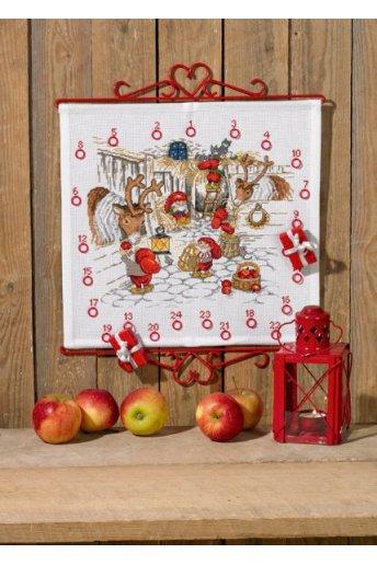「Christmas stable(トナカイと小さなサンタさん)」PERMIN CROSS STITCH KITS ペルミン クロスステッチキット