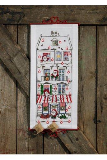 「Santas house(サンタハウス)」PERMIN CROSS STITCH KITS ペルミン クロスステッチキット