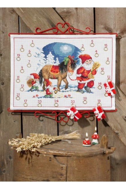 「Pixy & Horse(ピクシー&馬)」Permin Cross Stitch Kits ペルミン クロスステッチキット