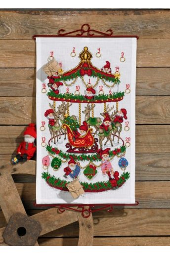 「Carousel(回転木馬)」Permin Cross Stitch Kits ペルミン クロスステッチキット