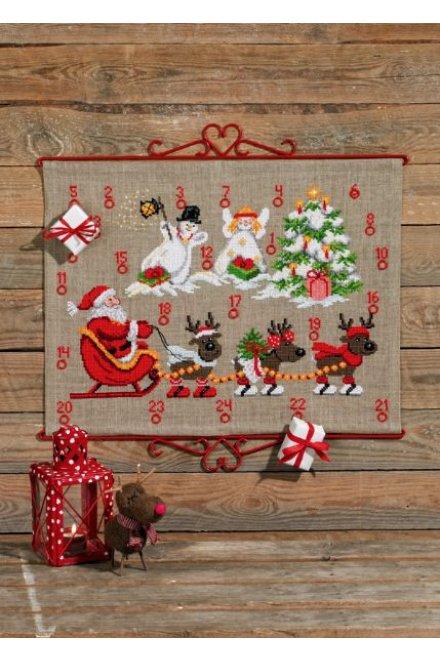 「Reindeer & Snowman(トナカイと雪だるま)」Permin Cross Stitch Kits ペルミン クロスステッチキット