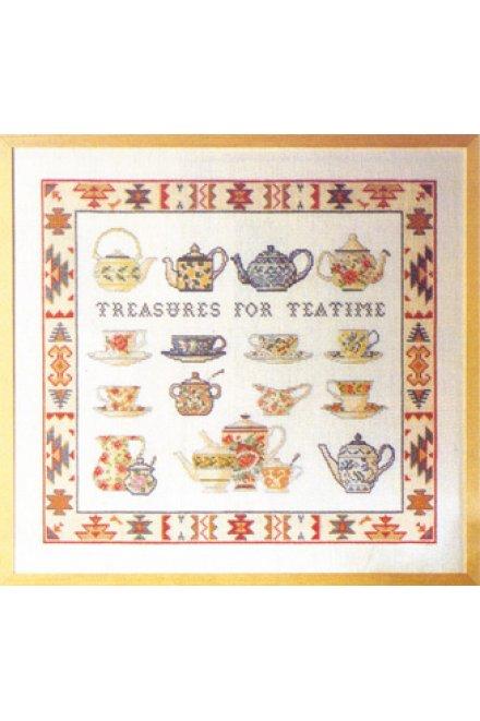 「Tea Time(ティータイム)」Permin Cross Stitch Kits ペルミン クロスステッチキット