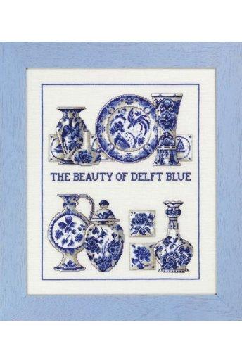 「Delft blue(デルフト ブルー)」Permin Cross Stitch Kits ペルミン クロスステッチキット
