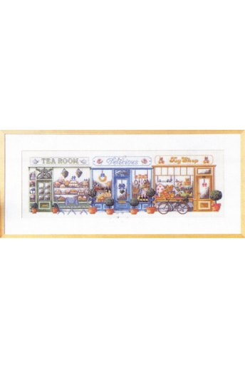 「Shopping Street(ショッピング・ストリート)」Permin Cross Stitch Kits ペルミン クロスステッチキット