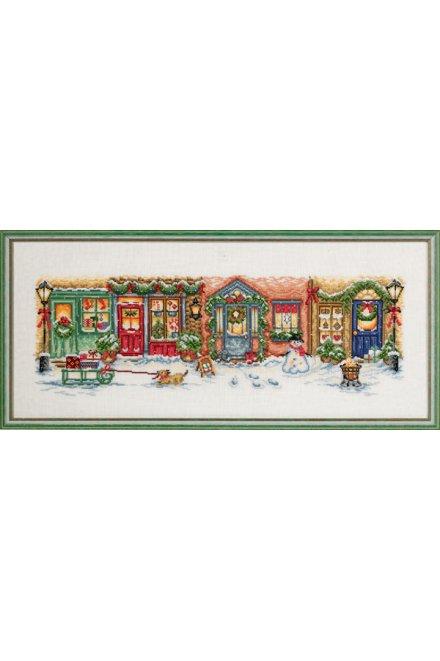 「Christmas street(クリスマス・ストリート)」Permin Cross Stitch Kits ペルミン クロスステッチキット