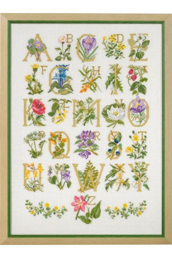 「Flowers ABC(フラワーABC)」Permin Cross Stitch Kits ペルミン クロスステッチキット