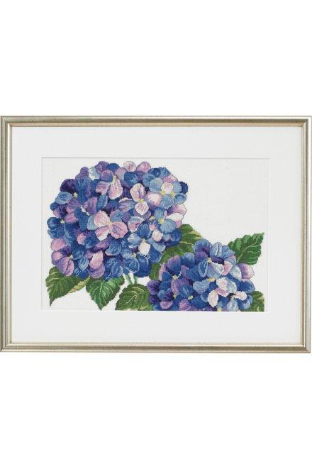 「Hydrangeas(あじさい)」Permin Cross Stitch Kits ペルミン クロスステッチキット