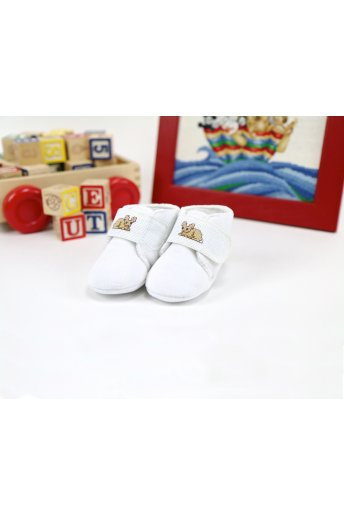 Soft Stitchable White Slippers