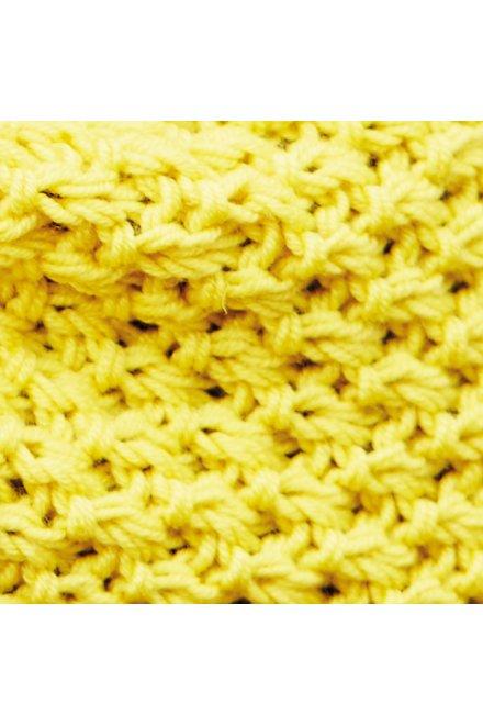Modello tricot Inaya sciarpa gialla