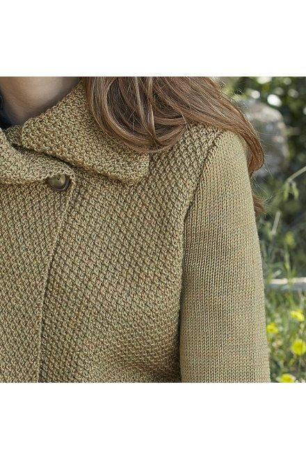 Modèle tricot veste inverness