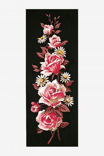 Canevas antique - Roses roses