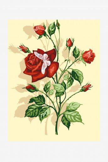 Talagarça Antigue - A rosa e a borboleta