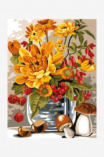 Antique Canvas - Autumn Vase