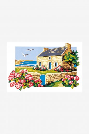 Antique Canvas - House By The Sea