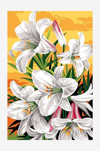 Antique Canvas - Lillies