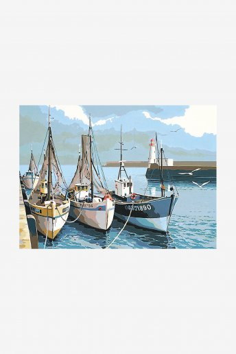 Antique Canvas - Fishing Boats