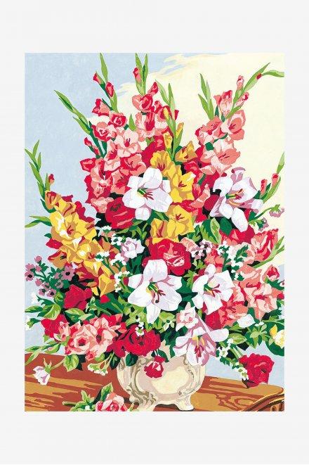 Antique Canvas - Gladiolus Bouquet