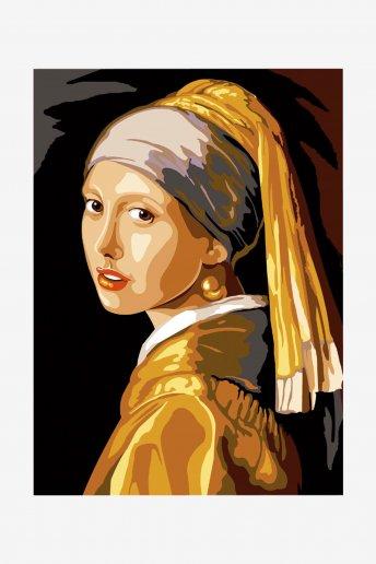 Canevas antique - La jeune fille à la perle