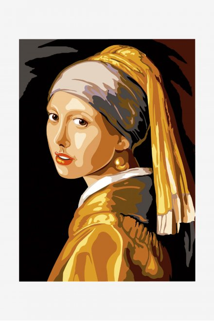 Antique Canvas - The Girl with the Pearl Earring
