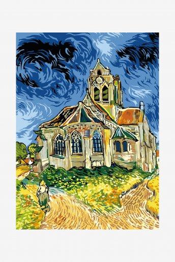Canevas antique - Eglise d'Auvers-sur-Oise